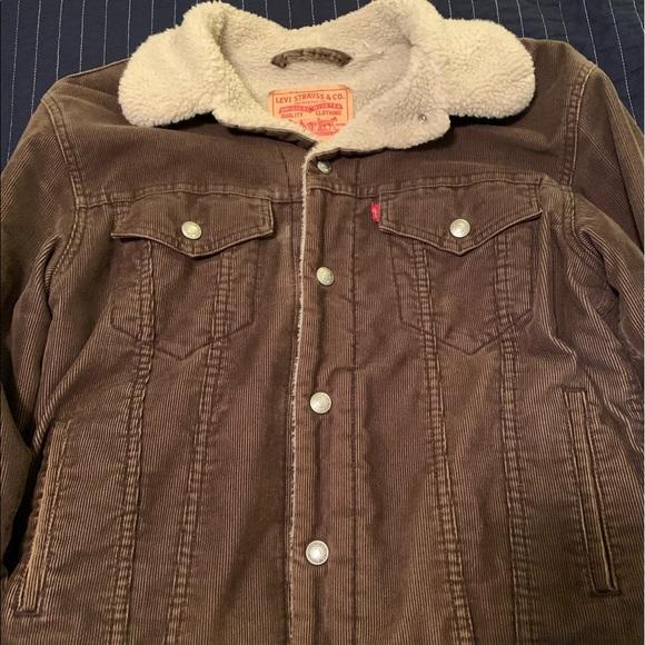 Levi corduroy Sherpa lined trucker jacket